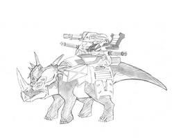 DinoRider by Ronin-ink