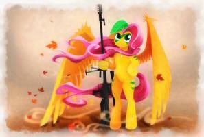 Sniper Fluttershy by Shaadorian