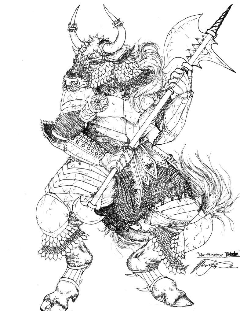 Emrin Steelskin Female_minotaur_warrior_by_theeclecticwombat-d8zjocp