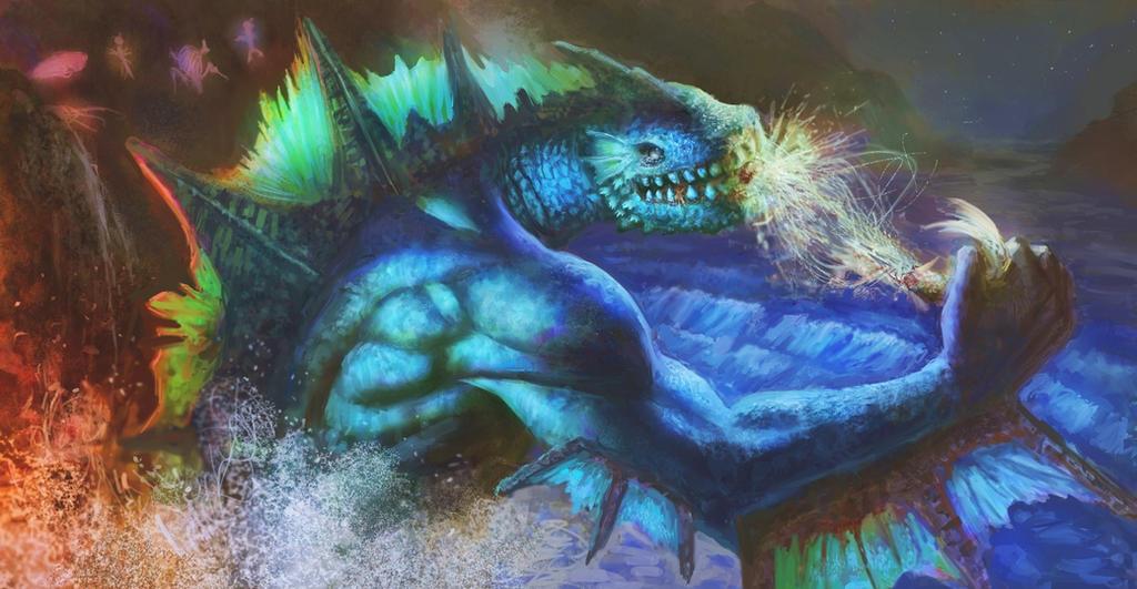 Dagon (HP Lovecraft) by Fedodika