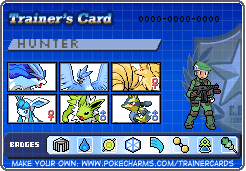 Hunter-Trainer Card by SuicuneLuver