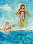 Ariel's transformation into human by VikingFedor