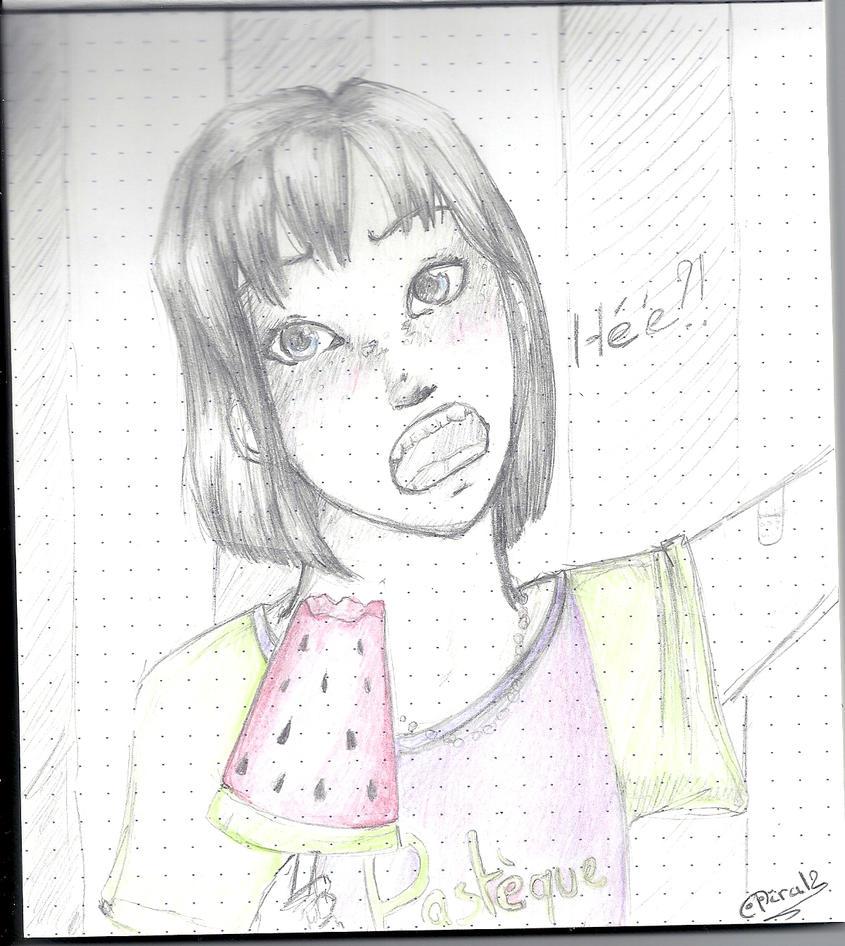 au fil du mine de crayon, 2. - Page 20 Watermelon_by_aosei-d56z1c0