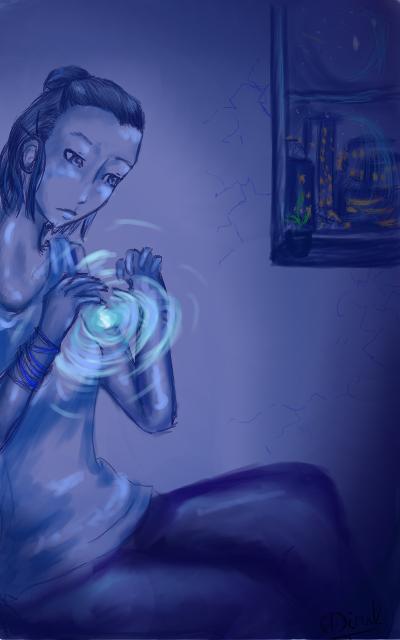 au fil du mine de crayon, 2. - Page 20 Aosei__the_blue_spirit_by_aosei-d5ewjgt