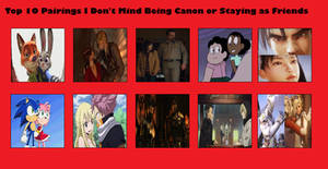 Top 10 Pairings I Don't Mind Being Canon or Not by MistyRainTheArtist