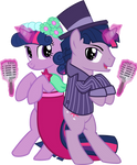 Twilight and Dusk singing at the wedding