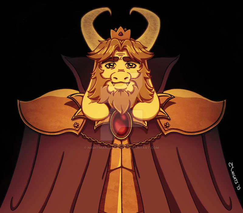 King Asgore Dreemur By Nightmaredude456 On Deviantart