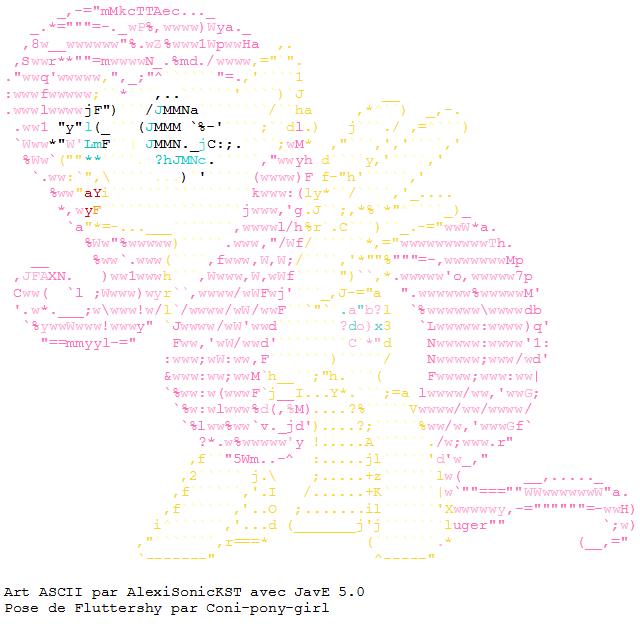 ASCII Fluttershy Profile