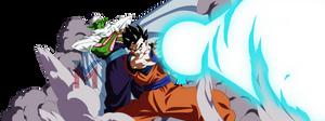 Dragon Ball Super - Gohan, Piccolo (Color) by VictorMontecinos