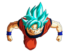 Dragon Ball Super - Goku Blue (Universe Survival) by VictorMontecinos