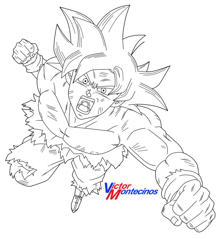 Ultra Instinct Goku (Lineart) By VictorMontecinos On