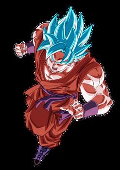 DBS - Goku SSJ Blue Kaio-Ken (no aura)