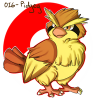 016- Pidgey by Seiishin