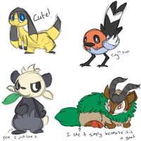Gen 6 doodles by Seiishin