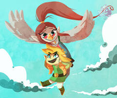 Link and Medli by Seiishin