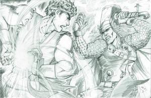 Ryu vs Thor Marvel VS Capcom 3 by alfred183