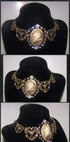 The Golden Lady - Steampunk Necklace