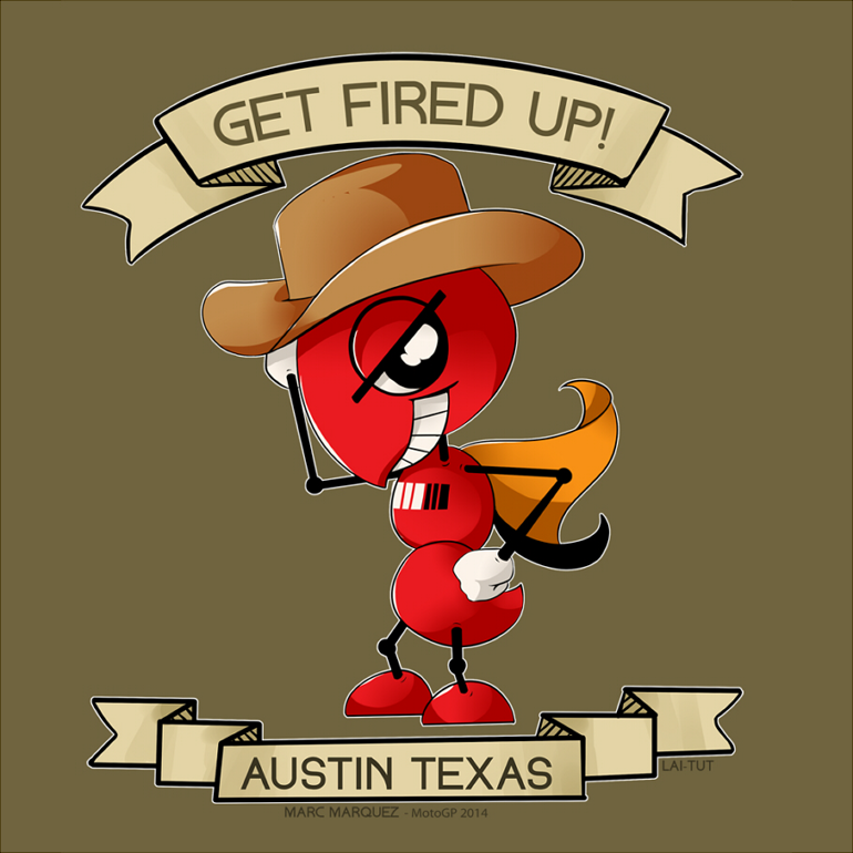 GET FIRED UP! - Marc Marquez / MotoGP Austin TX by Lai-Tut on DeviantArt
