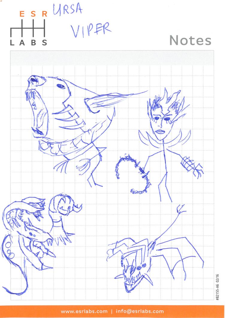 Dota 2 stickfigures: Ursa - Viper by shinarit