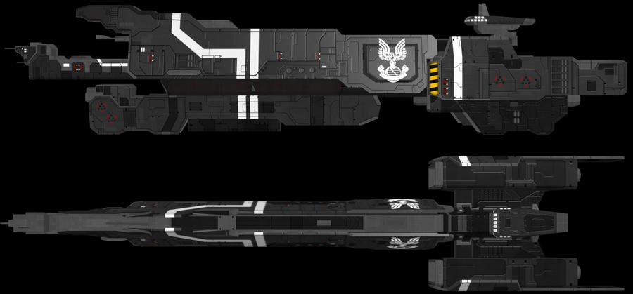 HALO UNSC Missile Cruiser WIP2 by adimatters