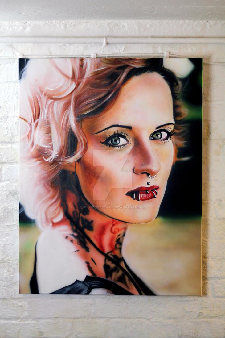 Jennifer Weist - Airbrush Painting by buntUNDkreativ