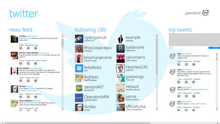Twitter for Windows 8 Concept