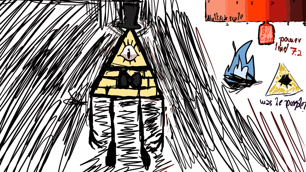 Bill Cipher doodle by fandomedragon25
