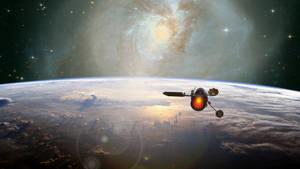 Orbital Sunset (1920x1080) by capn-damo