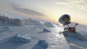 RRS Investigator - Over the Frozen Sea