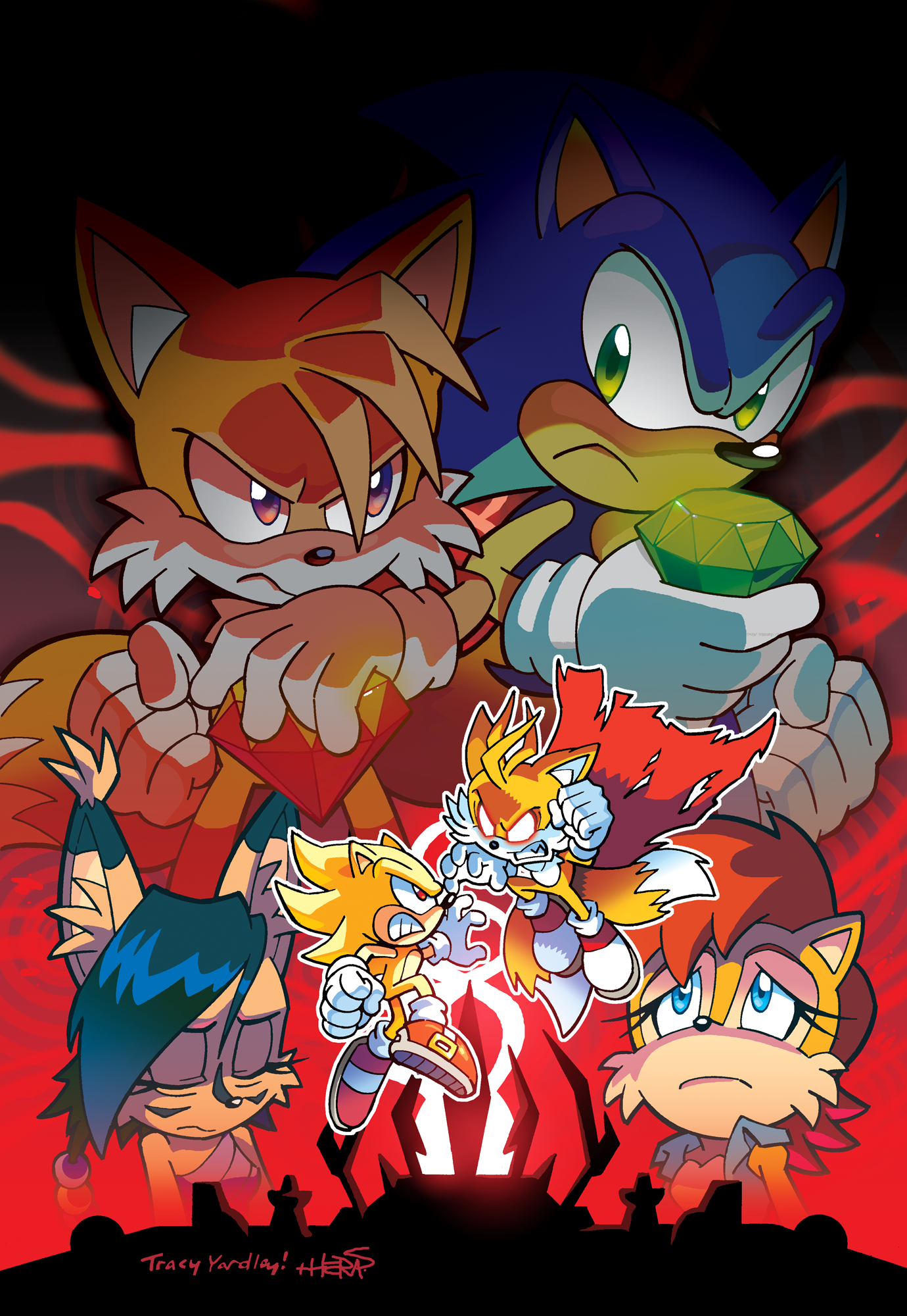 Sonic And Tails VS Shadow Scene Creator on Scratch