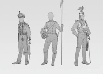 Hussar, uhlan and cuirassier. by cruorvolt