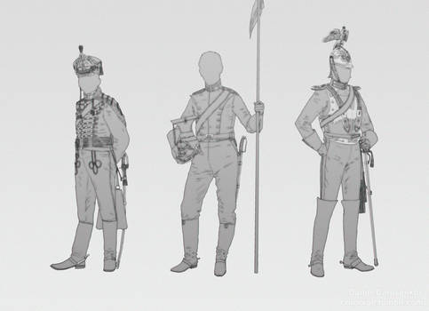 Hussar, uhlan and cuirassier.
