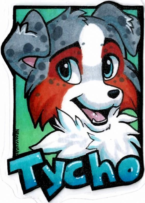 Tycho badge slushie