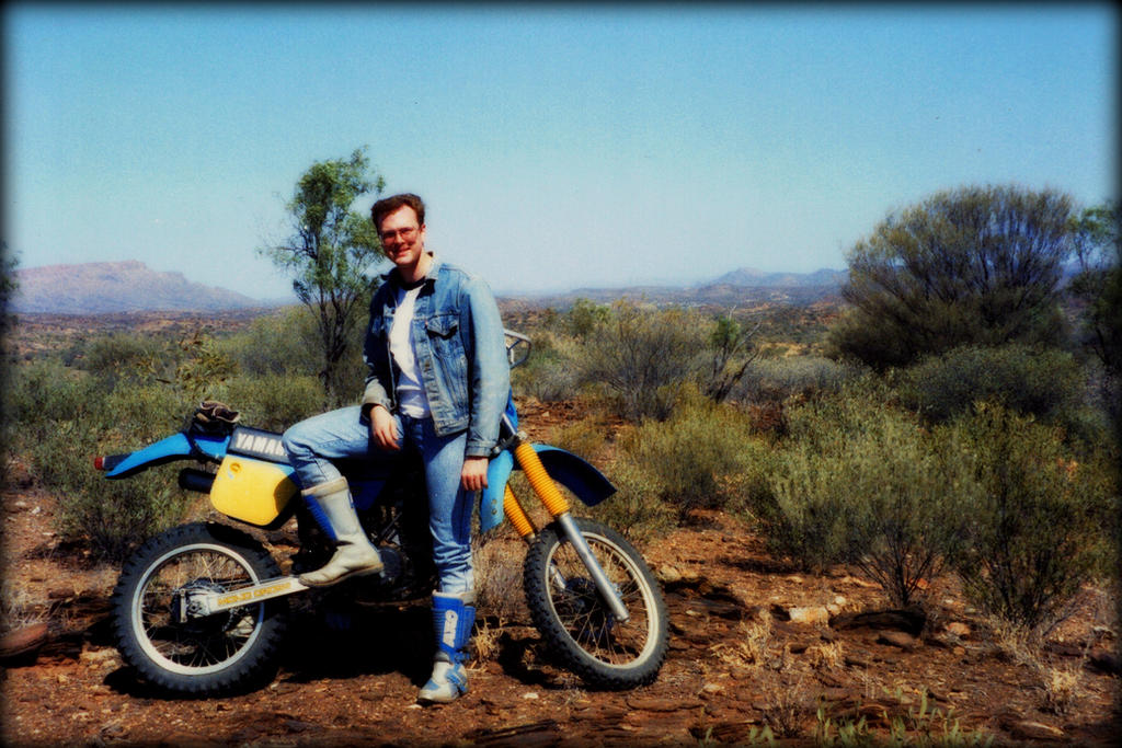 Motorcycling in the Outback in the 1980's by Tychoaussie