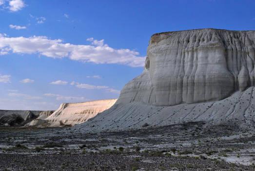 The white cliffs of western Kazakhstan