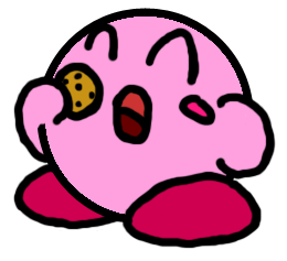 Kirby and a Cookie by MetaKnight2716