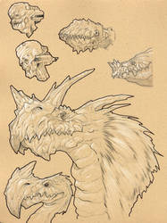 Creature Drawings 01 by Axel13-Gallery
