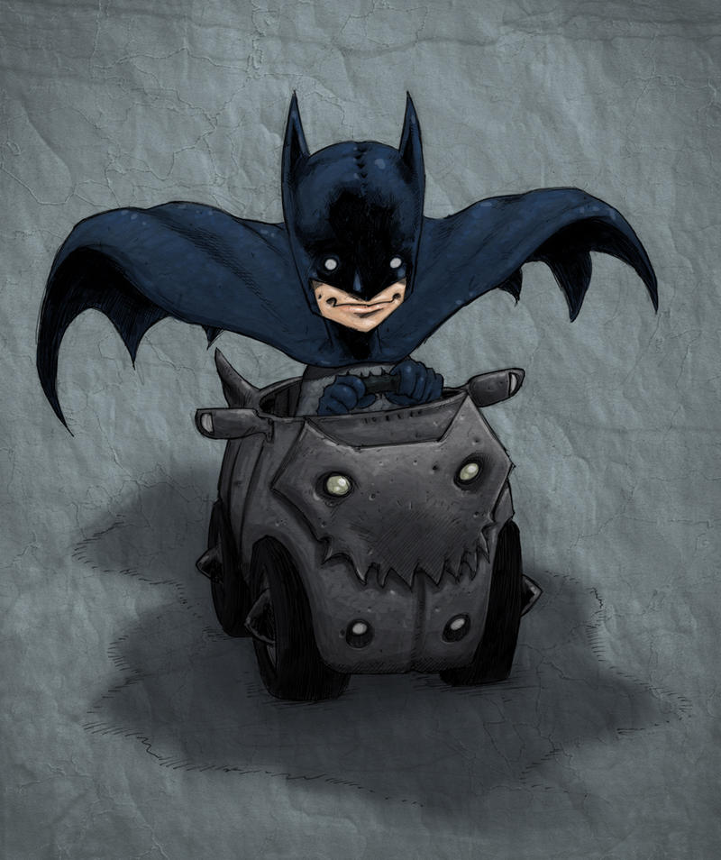 Little Batman riding along 2 by Axel13-Gallery