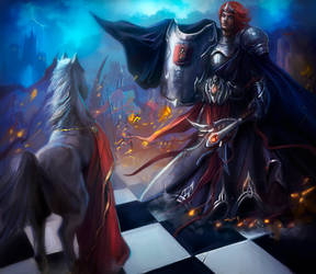 The power of the chess queen by Lvina