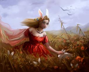 Queen of autumn fields by Lvina