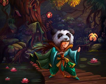 Panda boy by Lvina
