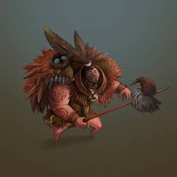 Maori warrior by Lvina