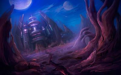 Cosmic castle by Lvina