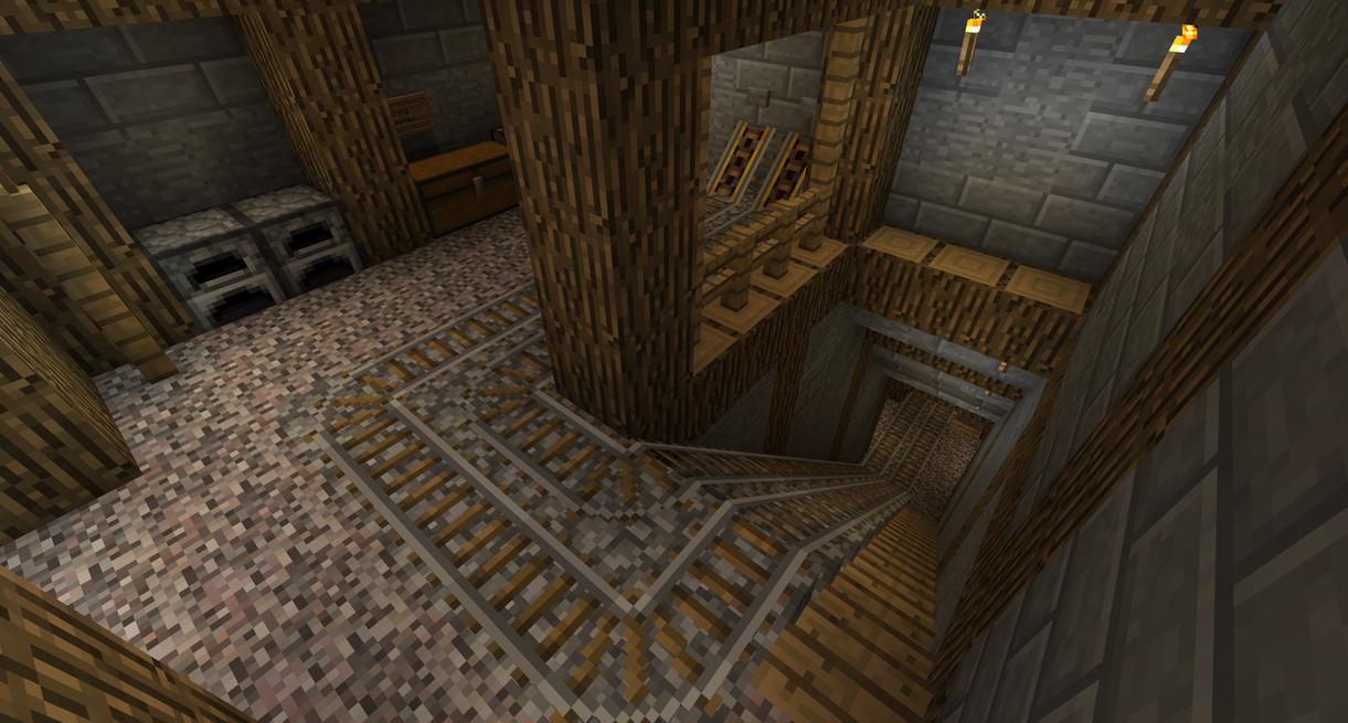 minecraft mining shaft by thenose90