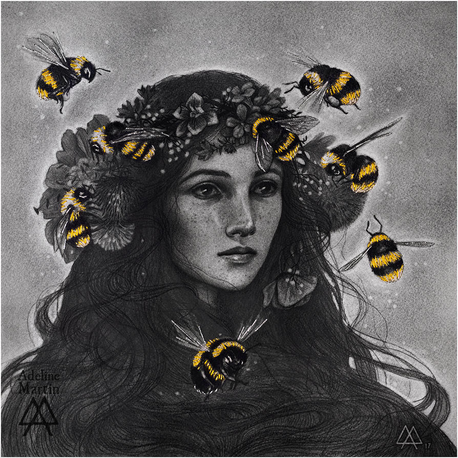 Bumblebees by Adeline-Martin
