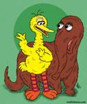 Big Bird and Snuffleupagus