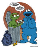 Oscar and Cookie Monster