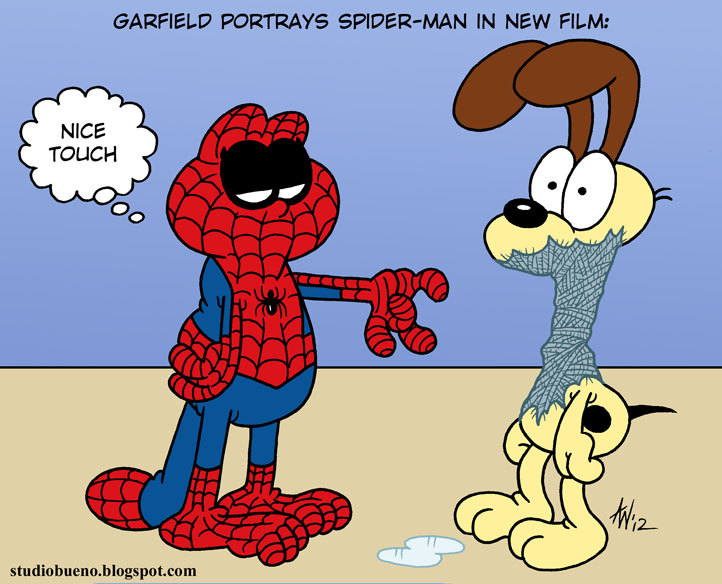 Humor - Page 10 Garfield_plays_spider_man_by_studiobueno-d55r4o1