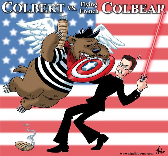 Colbert VS Colbear by StudioBueno