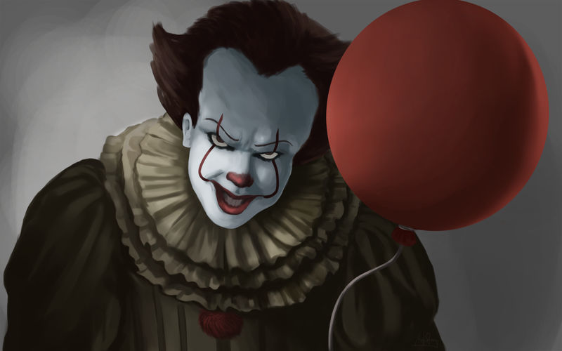 You'll Float Too - IT Clown by VickArtStrong